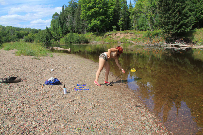 Pic #2 Gone Fishin' - Nude Girls, Mature, Outdoors, Redhead, Small Tits, Amateur