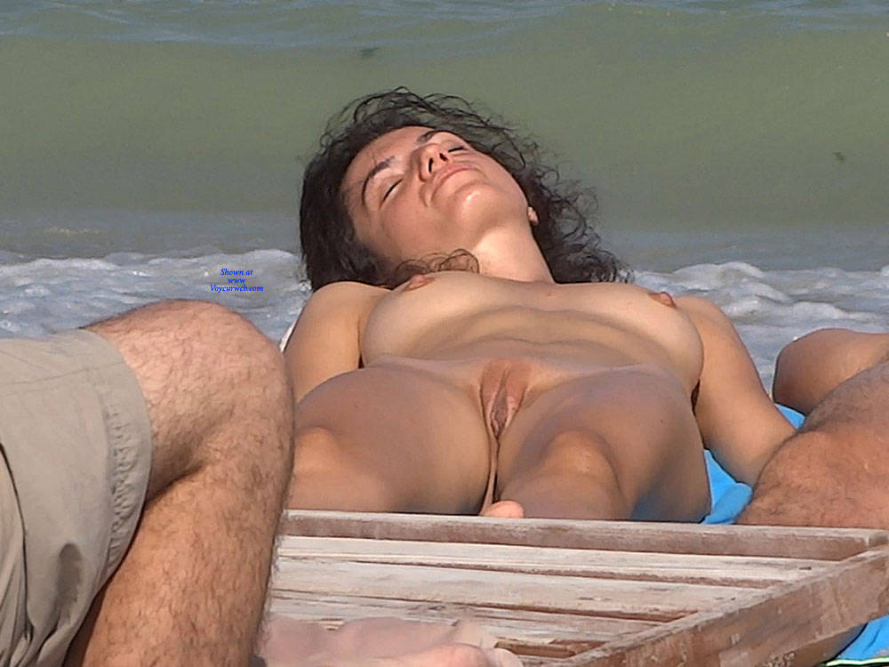 Pic #8 Late Afternoon - Nude Girls, Beach, Brunette, Outdoors, Shaved, Firm Ass, Beach Voyeur
