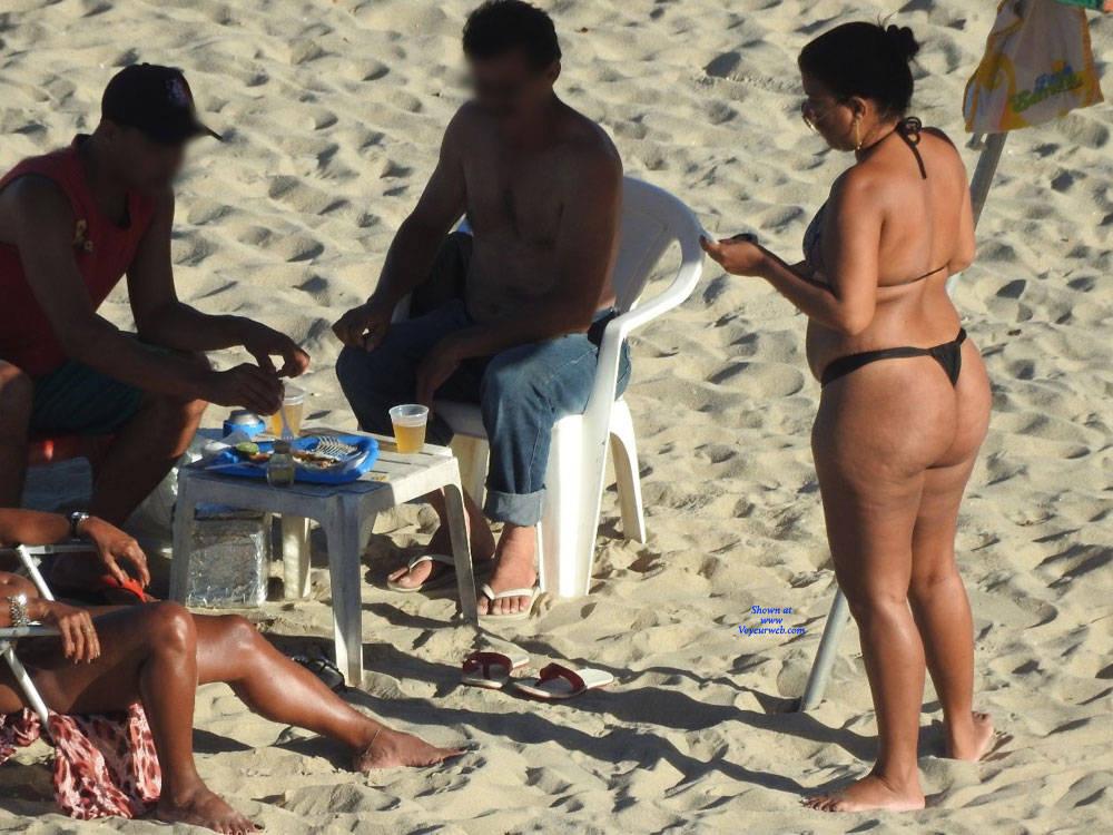 Pic #4 Big Ass In Bikini - Beach, Brunette, Outdoors, Bikini Voyeur