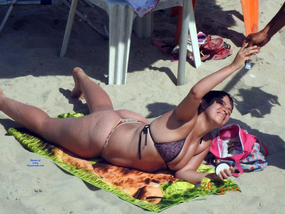 Pic #9 Big Ass On Beach - Beach, Brunette, Outdoors, Bikini Voyeur