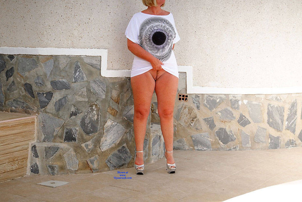 Pic #3 Wife's Asset - Nude Wives, Big Tits, Blonde, High Heels Amateurs, Outdoors