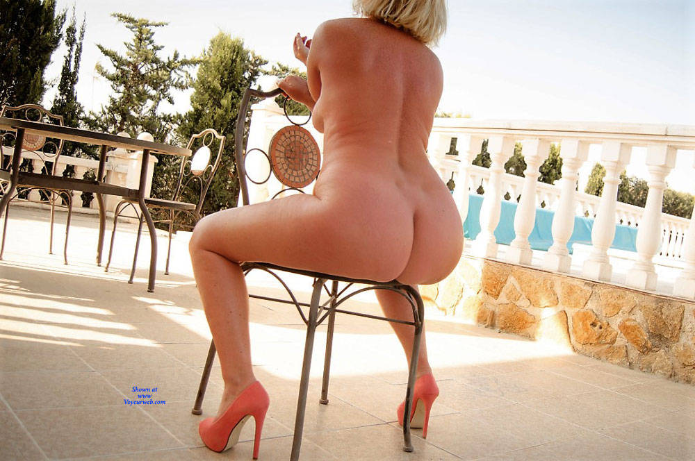 Pic #4 Wife's Asset - Nude Wives, Big Tits, Blonde, High Heels Amateurs, Outdoors