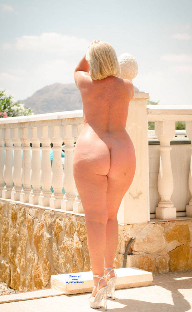 Pic #6 Wife's Asset - Nude Wives, Big Tits, Blonde, High Heels Amateurs, Outdoors