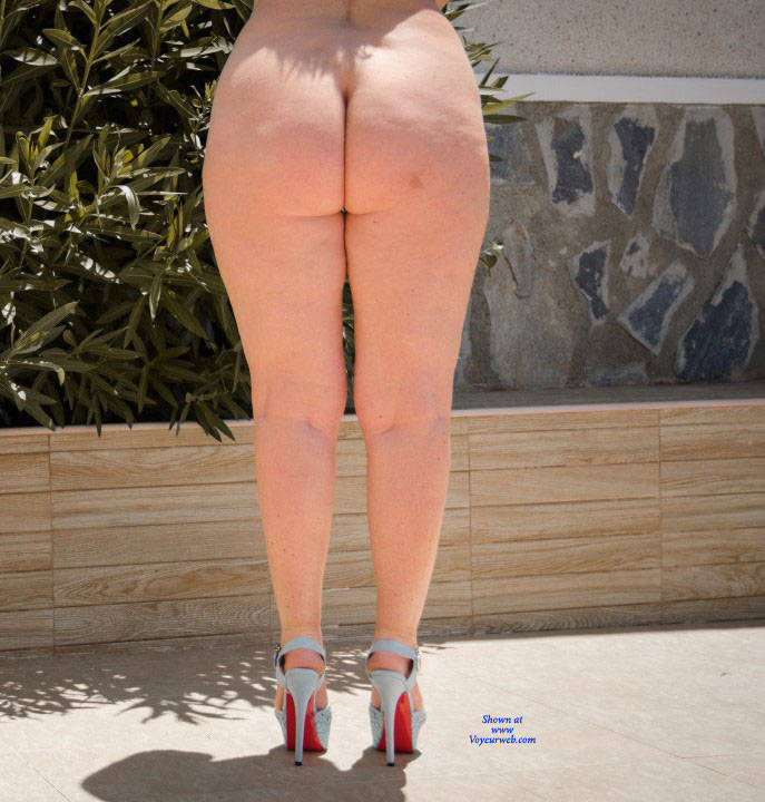 Pic #9 Wife's Asset - Nude Wives, Big Tits, Blonde, High Heels Amateurs, Outdoors