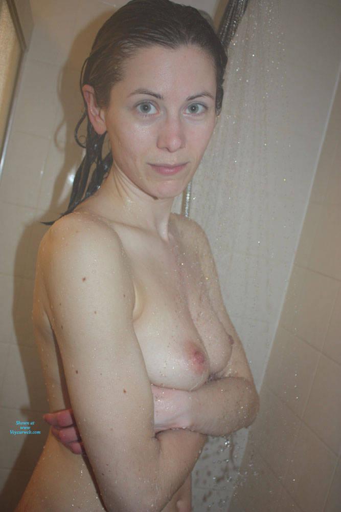 Pic #1 Shower Time - Nude Girls, Brunette, Amateur, Wet Tits