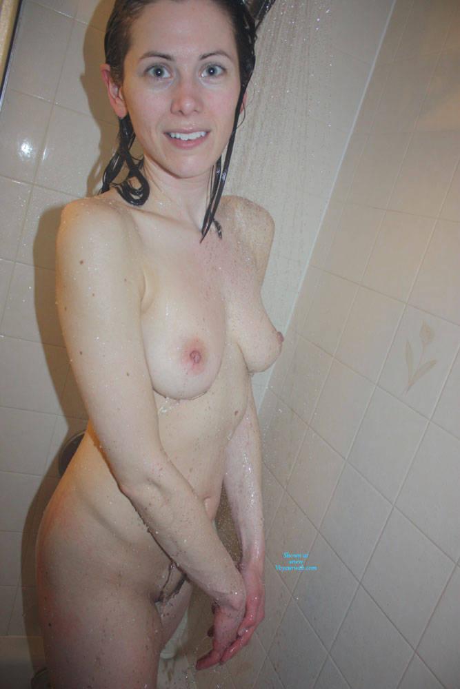 Pic #2 Shower Time - Nude Girls, Brunette, Amateur, Wet Tits