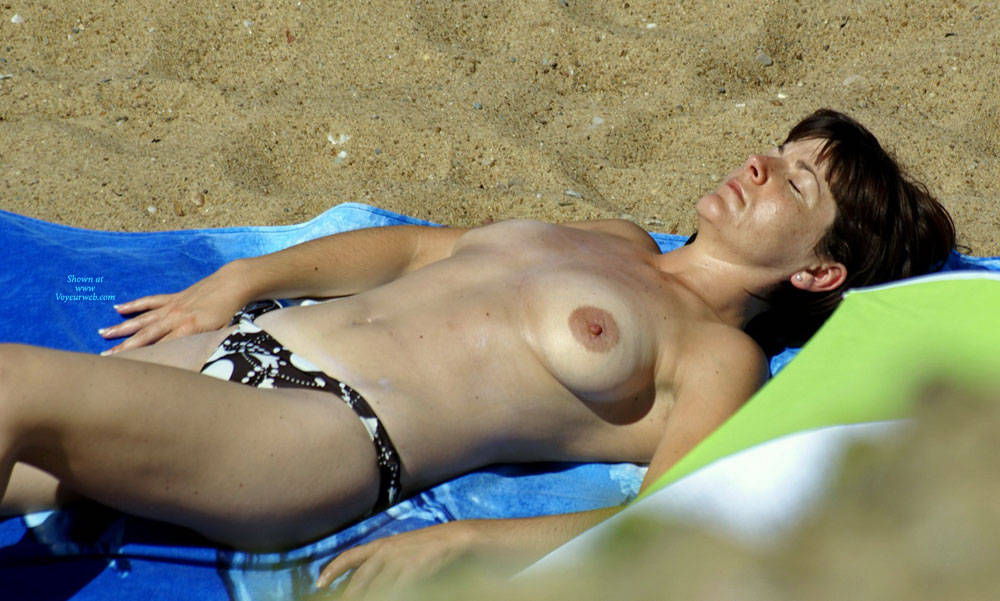 Pic #5 On The French Coast - Topless Girls, Beach, Big Tits, Outdoors, Beach Voyeur