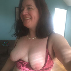 Asked To Take My Tits Out - Big Tits, Brunette, Mature, Amateur