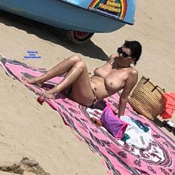 Sitges Summer 2018 - Topless Girls, Beach, Big Tits, Brunette, Outdoors, Beach Voyeur