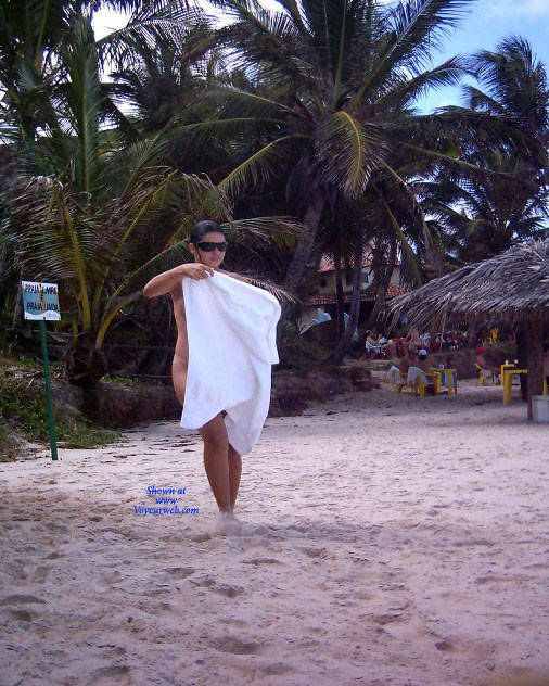 Pic #10 Shower On Beach - Nude Girls, Brunette, Outdoors, Bush Or Hairy, Beach Voyeur