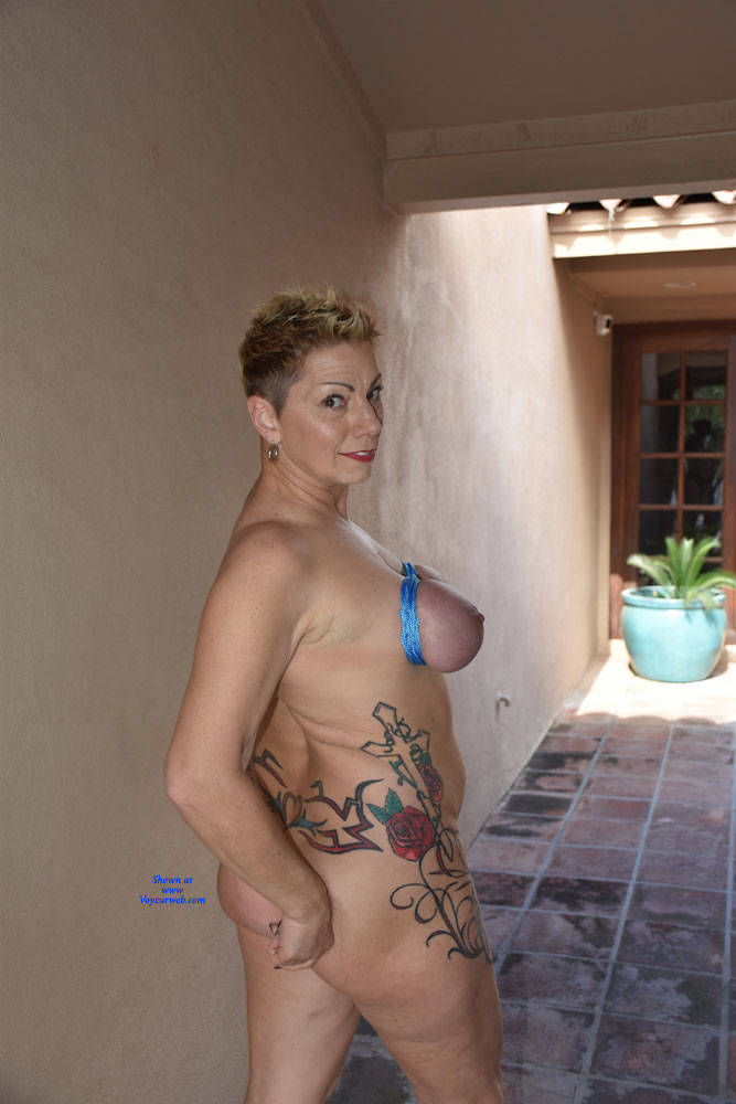 Pic #4 Shelby's Tied Tits - Nude Girls, Big Tits, Mature, Outdoors, Shaved, Amateur, Tattoos