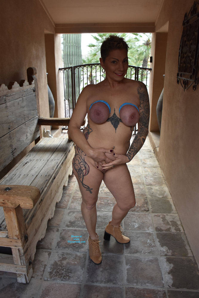Pic #5 Shelby's Tied Tits - Nude Girls, Big Tits, Mature, Outdoors, Shaved, Amateur, Tattoos