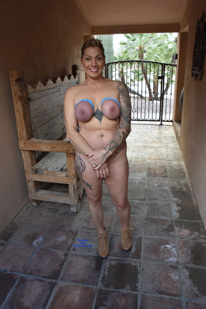 Pic #7 Shelby's Tied Tits - Nude Girls, Big Tits, Mature, Outdoors, Shaved, Amateur, Tattoos