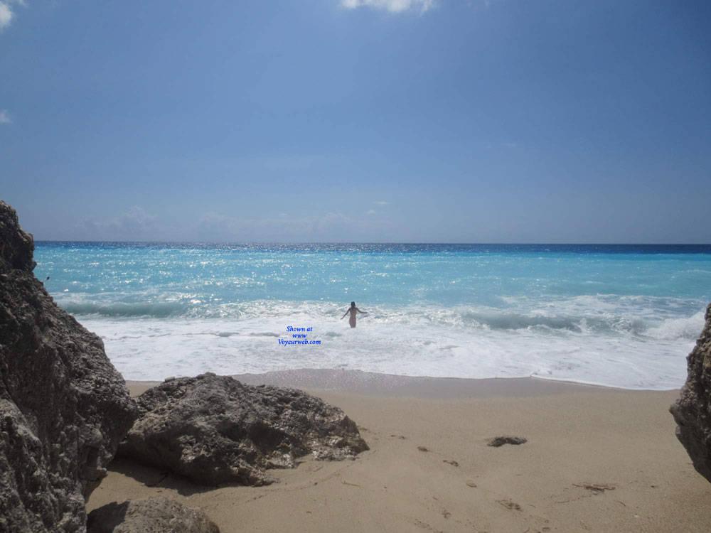 Pic #2 Lefkada - Nude Girls, Beach, Brunette, Outdoors, Amateur