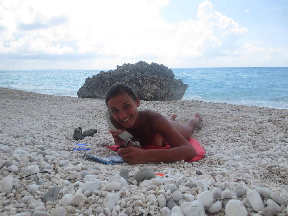 Pic #3 Lefkada - Nude Girls, Beach, Brunette, Outdoors, Amateur