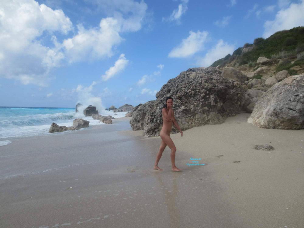 Pic #4 Lefkada - Nude Girls, Beach, Brunette, Outdoors, Amateur