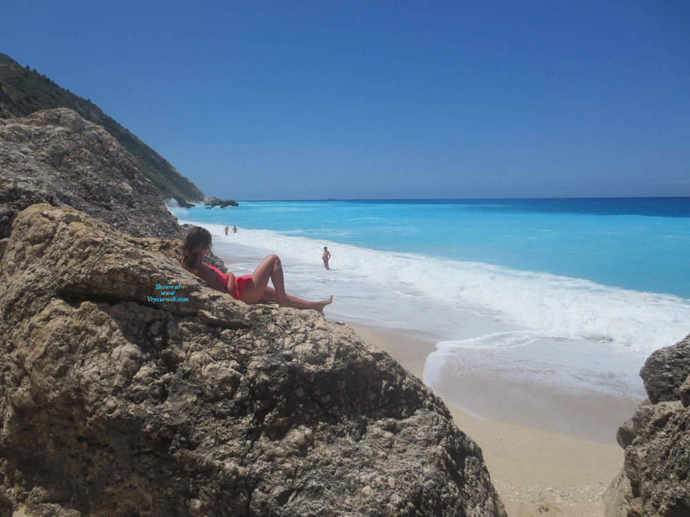Pic #5 Lefkada - Nude Girls, Beach, Brunette, Outdoors, Amateur