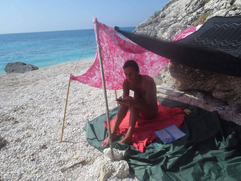 Pic #6 Lefkada - Nude Girls, Beach, Brunette, Outdoors, Amateur