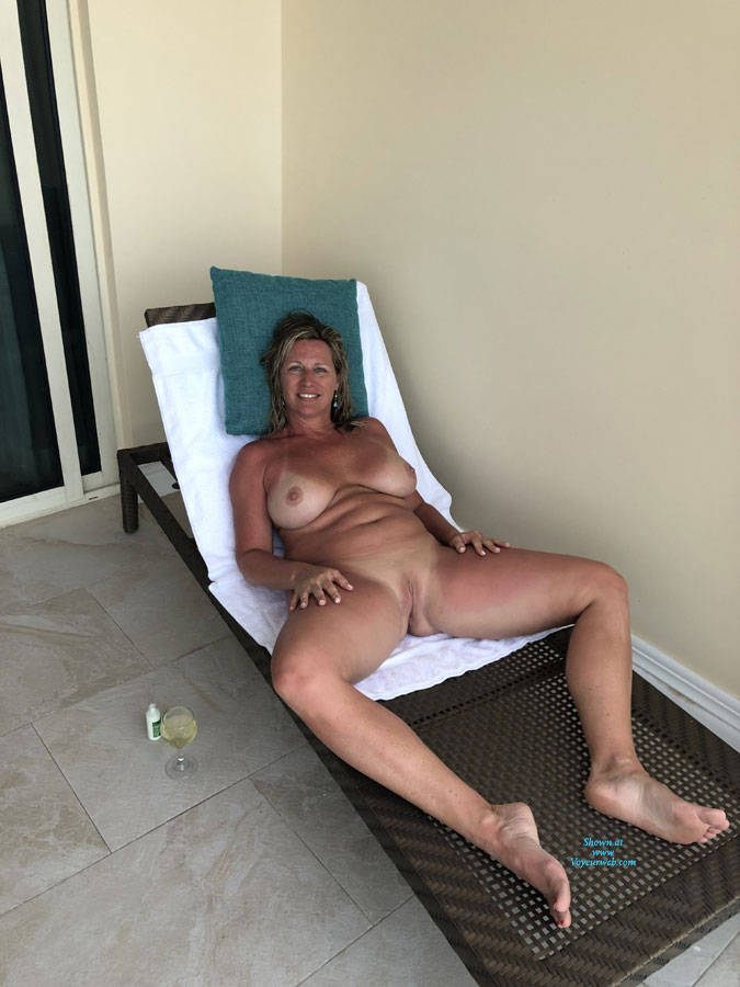 Pic #3 Relaxing - Nude Wives, Big Tits, Outdoors, Shaved, Amateur, Mature