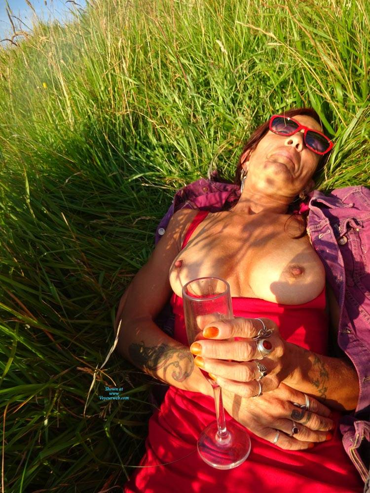 Pic #1 On The Beach - Big Tits, Mature, Outdoors, Amateur