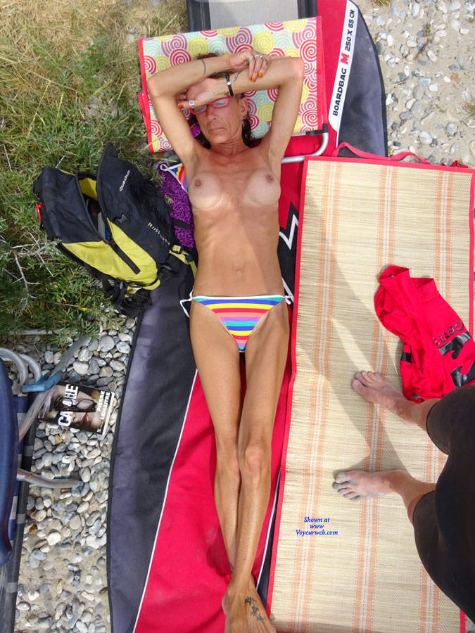 Pic #3 On The Beach - Big Tits, Mature, Outdoors, Amateur