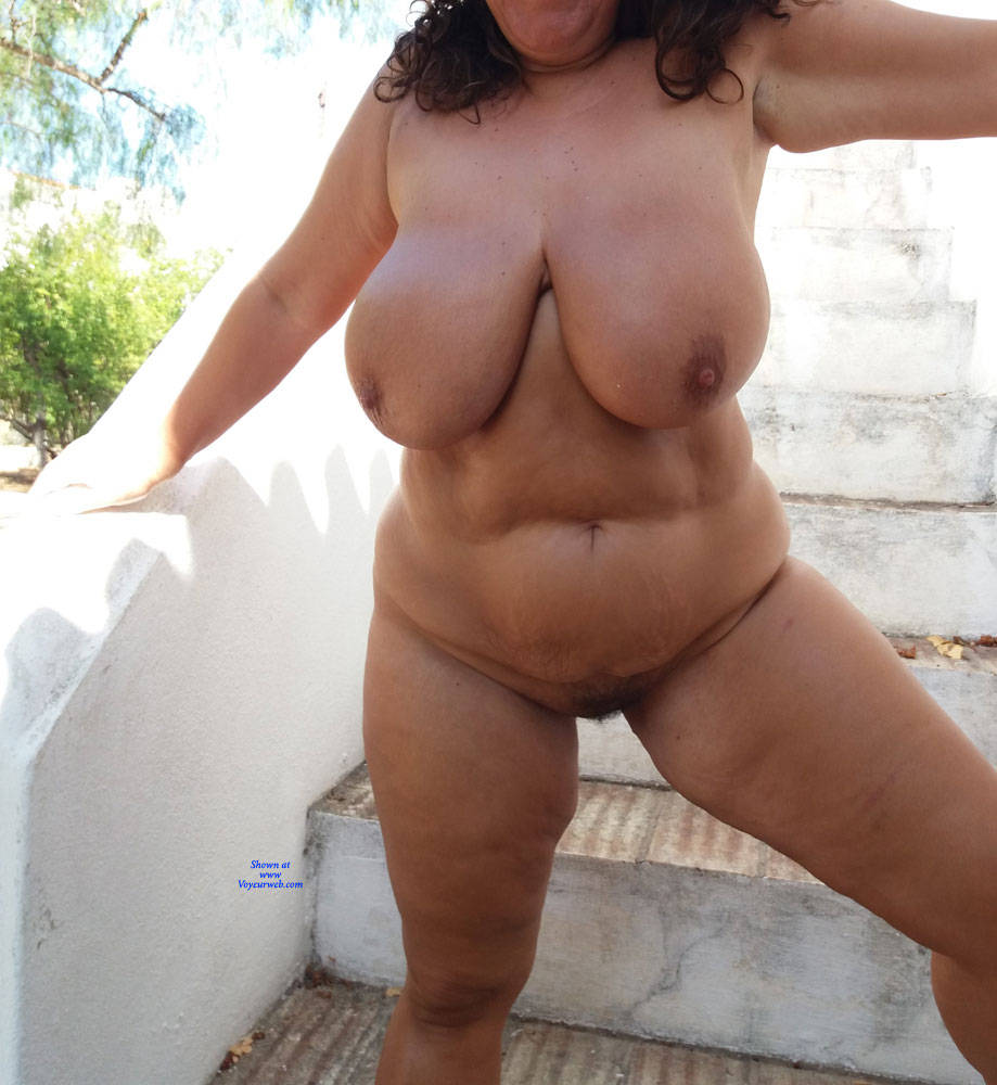 Pic #2 At The Garden - Nude Girls, Big Tits, Outdoors, Bush Or Hairy, Amateur