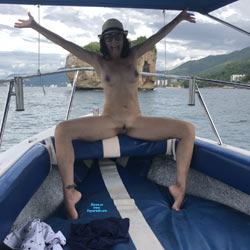 Boat Ride Strip - Nude Girls, Brunette, Outdoors, Amateur, Tattoos