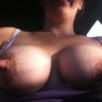 Very large tits of my wife - bnormal