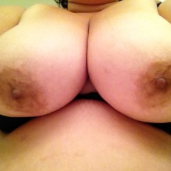 Large tits of a co-worker - Lynn from work