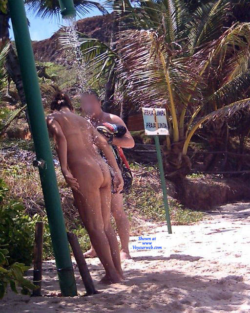 Pic #2 Couple In Tambaba Beach - Nude Girls, Brunette, Outdoors, Beach Voyeur