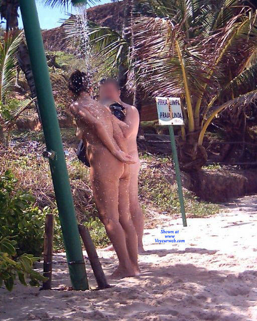 Pic #6 Couple In Tambaba Beach - Nude Girls, Brunette, Outdoors, Beach Voyeur