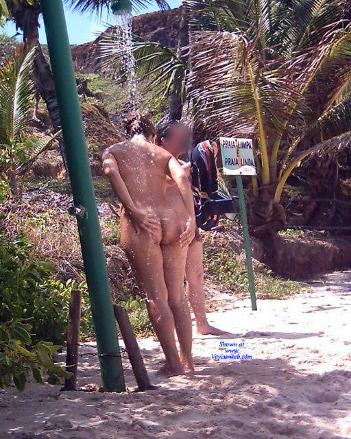 Pic #7 Couple In Tambaba Beach - Nude Girls, Brunette, Outdoors, Beach Voyeur