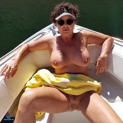 Fun On The Boat 22 - Nude Wives, Big Tits, Brunette, Mature, Outdoors, Amateur