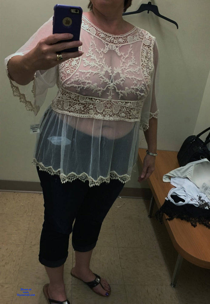 Pic #1 Changing Room Selfies - Topless Wives, Big Tits, See Through, Amateur