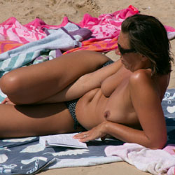 On The Beach Again - Nude Outdoors, Topless Girl, Beach Voyeur
