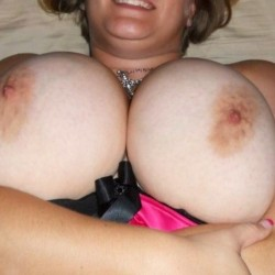 Very large tits of my wife - My wifes tits