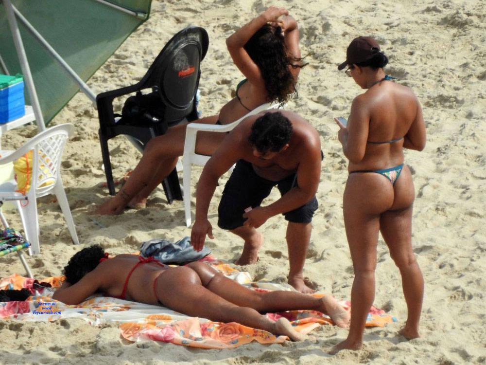 Pic #4 Janga Beach - Beach, Brunette, Outdoors, Bikini Voyeur