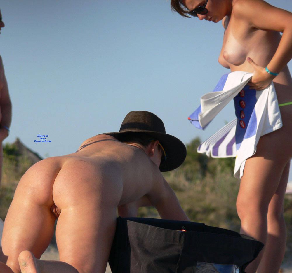 Pic #7 Sunny Nude Beach - Nude Girls, Beach, Brunette, Outdoors, Shaved, Beach Voyeur