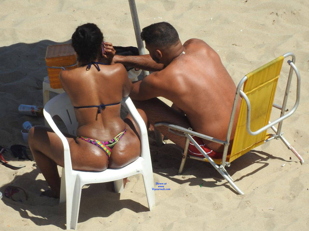 Pic #4 Janga Beach - Beach, Brunette, Outdoors, Bikini Voyeur
