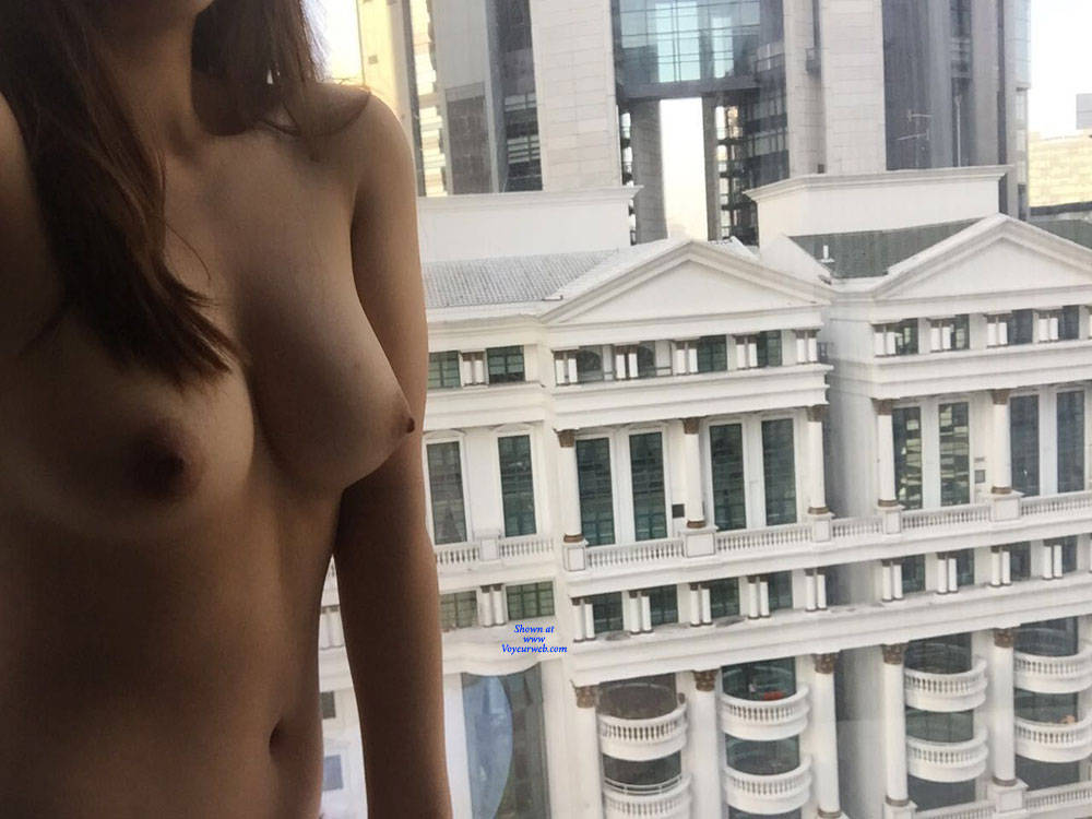 Pic #3 My Horny Girl Loves To Flash - Nude Girls, Big Tits, Public Exhibitionist, Flashing, Public Place, Amateur