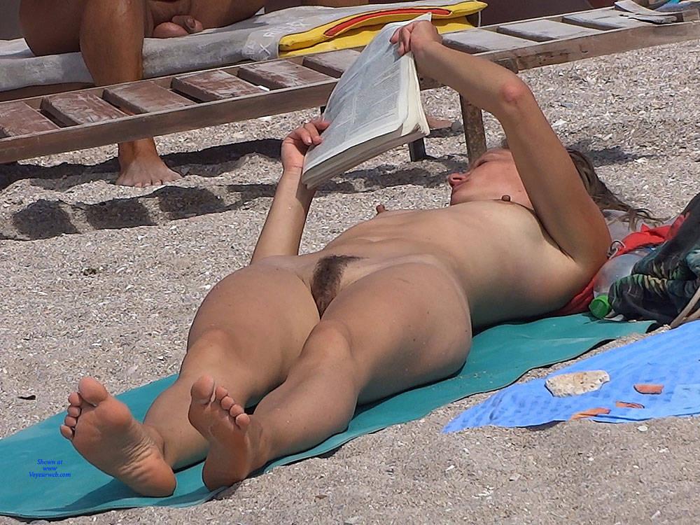 Pic #9 Hairy Blonde - Nude Girls, Beach, Outdoors, Bush Or Hairy, Medium Tits, Beach Voyeur