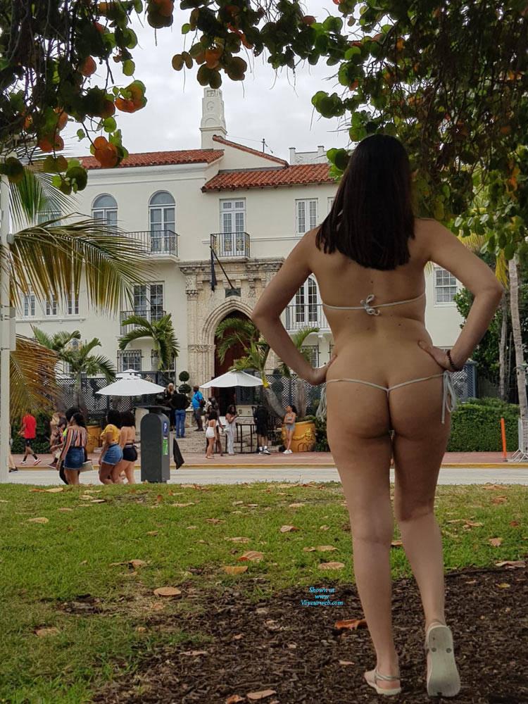 Pic #8 Spring Break - Brunette, Public Exhibitionist, Flashing, Outdoors, Public Place, Amateur