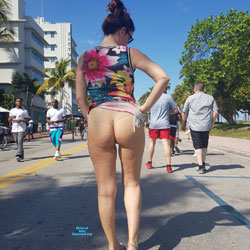 Spring Break - Brunette, Public Exhibitionist, Flashing, Outdoors, Public Place, Amateur