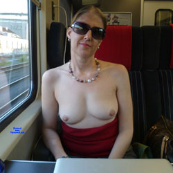 Flashing On Trains - Big Tits, Public Exhibitionist, Flashing, Public Place, Wife/wives, Amateur