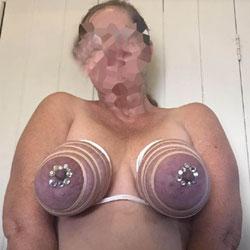 Zip Tied Tits With Sparkles - Big Tits, Amateur, fetish pics