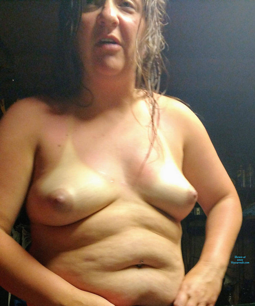 Pic #6 Exhibitionist Angela Loves Showing Off Her Assets - Brunette, Mature, See Through, Amateur