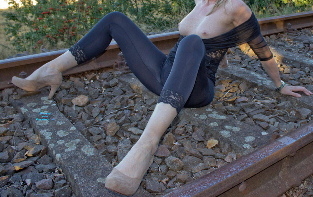 Pic #2 Railroad And Nylons Part II - Lingerie, Outdoors, Amateur