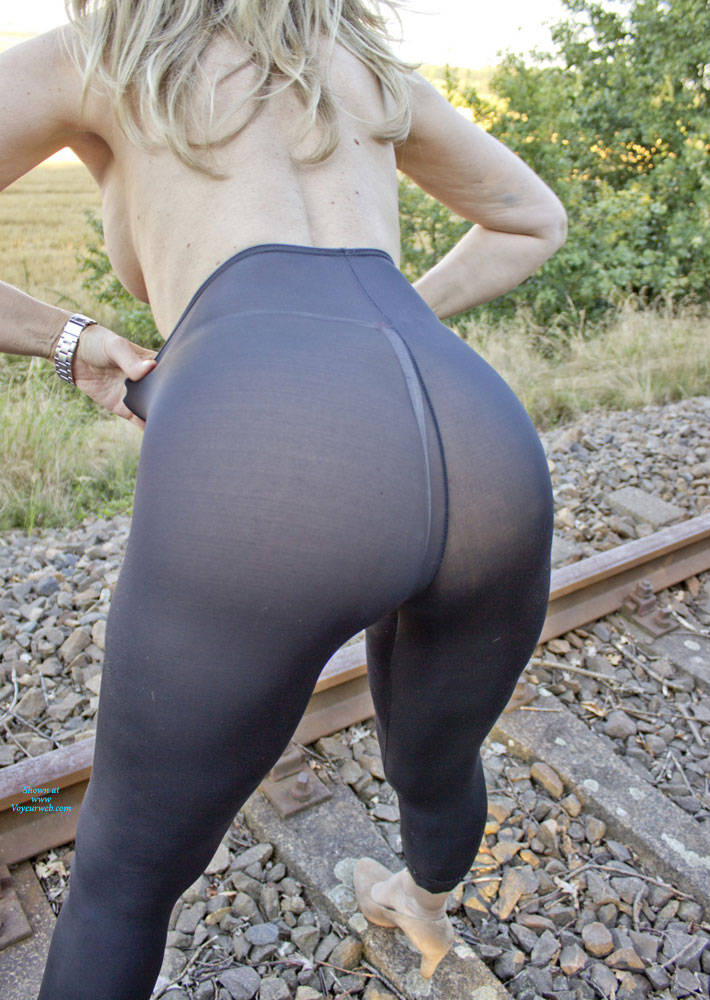 Pic #8 Railroad And Nylons Part II - Lingerie, Outdoors, Amateur