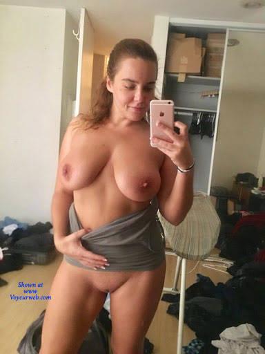 Pic #8 Kristy Teasing Me On The Road - Nude Girls, Big Tits, Brunette, Shaved, Amateur