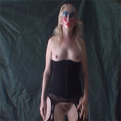 Tilly In Her Fishnets Dancing - Blonde, Lingerie, Bush Or Hairy, Amateur